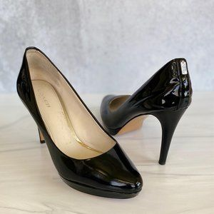 COACH Giovanna Black Patent Leather Heels …